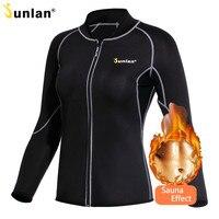 Junlan Women Sauna Suit Long Sleeve Neoprene Body Control Shapewear Slimming Hot Shapers Sweat Workout Bodysuit Reducing Vest