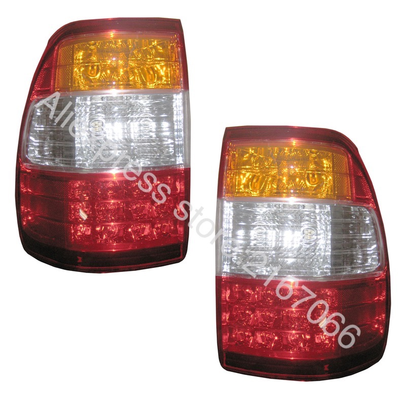 Tail Lights LED fits TOYOTA LAND CRUISER 100 2005 2006 2007 Rear Lamps SET LEFT + RIGHT PAIR