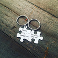 Valentine's Day Gift Key Chains YOU ARE MY PERSON Puzzle Love Key Chain Lovers Romantic Creative Gift Silver Alloy