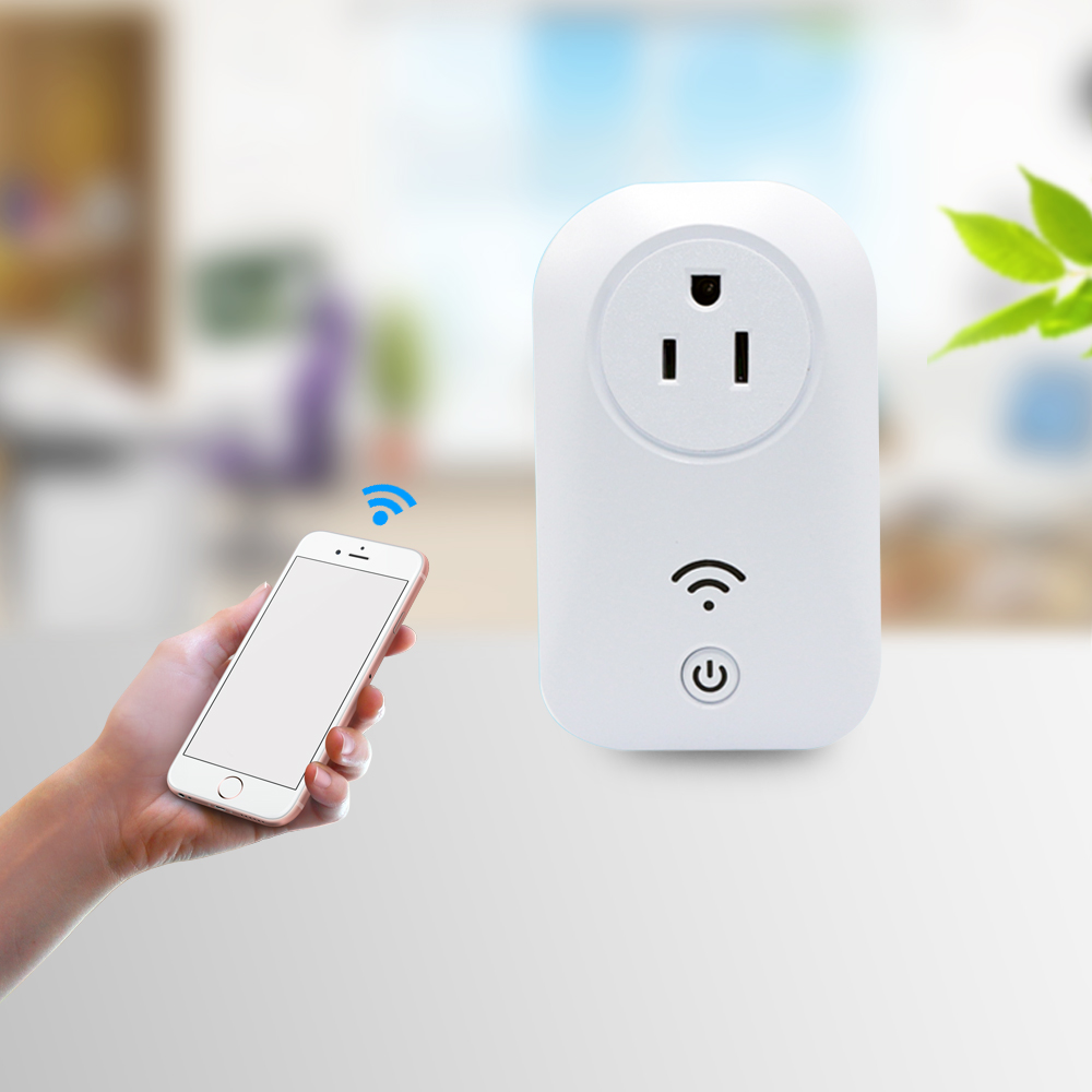 latest well experience smart home US Standard 10A White Power Socket App Wireless Remote Control Wall wifi Plug For IOS Andriod