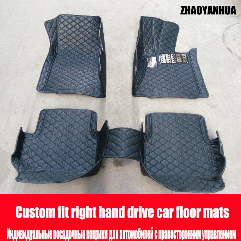 New Fully Tailored Car Floor Mats Black Checker Rubber Mercedes GL 2013-Date