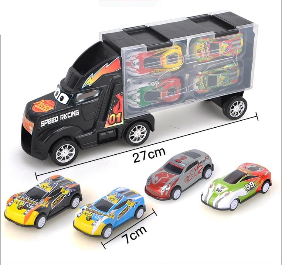 Anak Anak Mainan Traktor Wadah Mobil Box Container Dengan Tangguh Logam Mobil Model Set Anak Hadiah Set Diecasts Toy Kendaraan Aliexpress