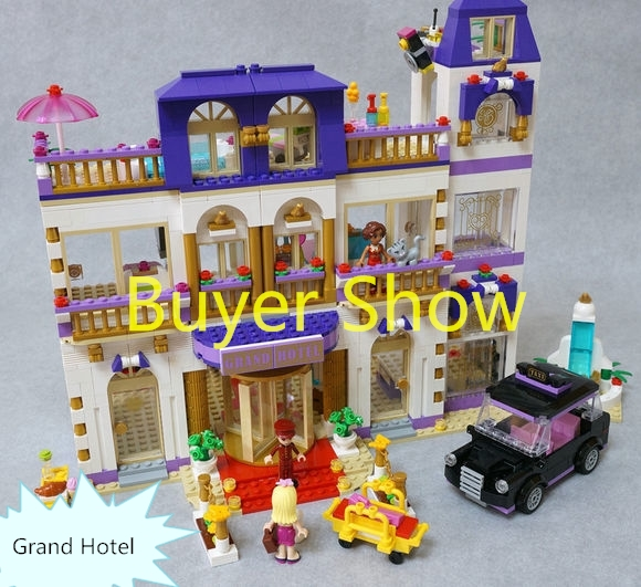 Girls Friends Heartlake Grand Hotel Model Building Blocks Bricks Toys gift Compatible with 41101 10406 girls pop star show stage building blocks set 448pcs assemble toys compatible with blocks for girls gift