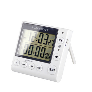 Image 3 - Kitchen Timer Digital Countdown Timer 2 Channel Flashing LED for Lab Electronic Kitchen Homework Exercise Gym Workout Cooking
