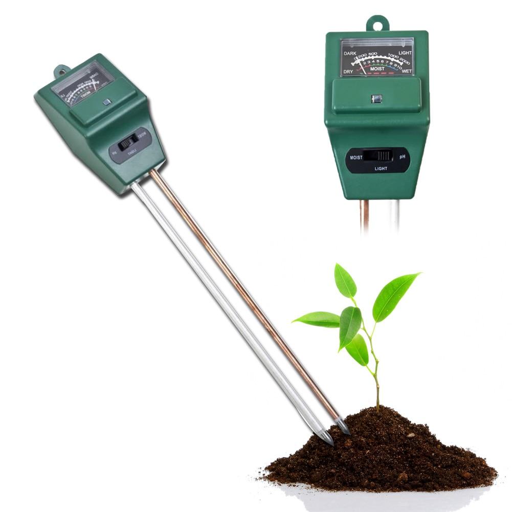 3 in 1 Digital Soil PH Meter Soil Water Moisture Light PH Meter Tester for Garden Plant Flowers Garden Tools Digital PH Meter big shovel stick soil grow flowers zaimiao professional tools