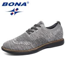 BONA New Fashion Style Men Casual Shoes Flying Weaven Men Shoes Super Light Men Oxfords Comfortable Men Flats Free Shipping