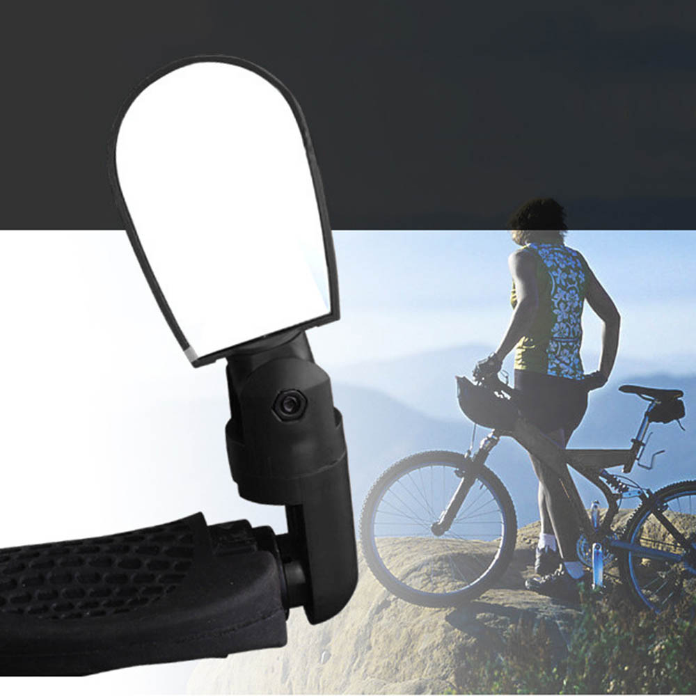 Rotate Bicycle Cycling Bike Back Rear View Handlebar Safety Rearview Mirror BEST