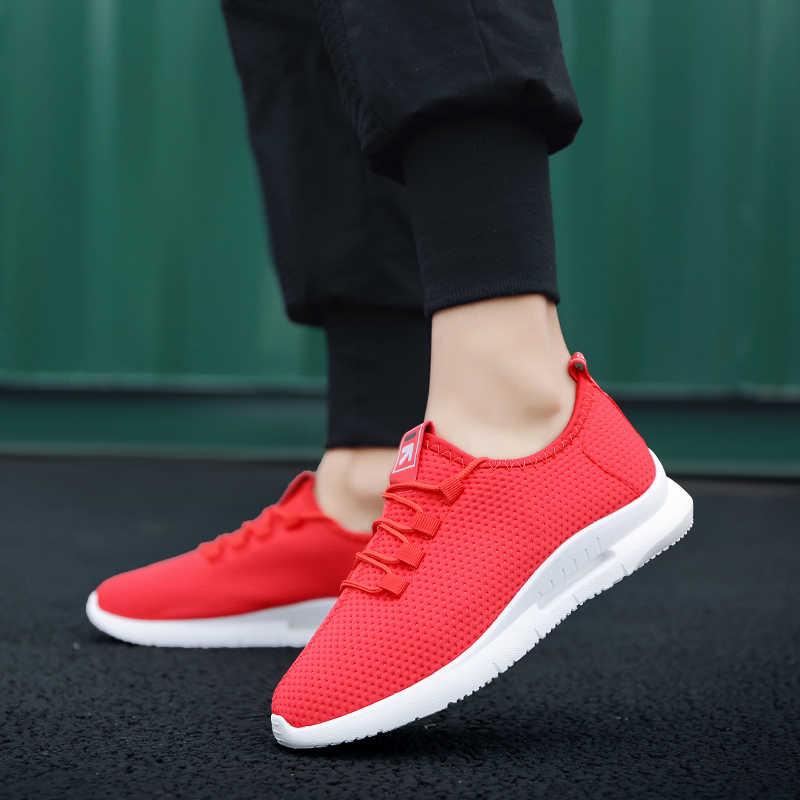Sooneeya yürüyüş ayakkabısı erkekler için 2020 yaz yeni erkek Sneakers dantel Up düşük üst açık ayakkabı nefes Tenis Masculino Adulto