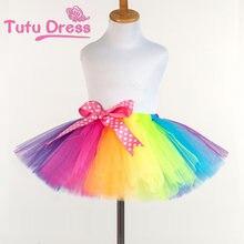2ede034d6149 New Fluffy Handmade arcobaleno tutu gonna colorata a buon mercato della  ragazza del pannello esterno di ballo Del pannello ester.
