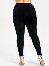 Floral Embroidered Skinny Black Cotton Leggings for Women
