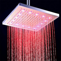 12 inch 300mm LED Color Changing Rainfall Shower Head Rectangular Waterfall Shower Head