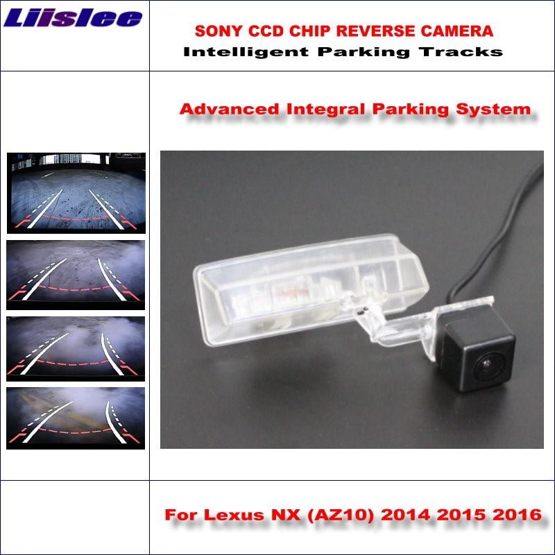 цена Liislee Car Reverse Backup Rear View Camera For Lexus NX (AZ10) 2014 2015 2016 Intelligent Parking Tracks / NTSC RCA AUX