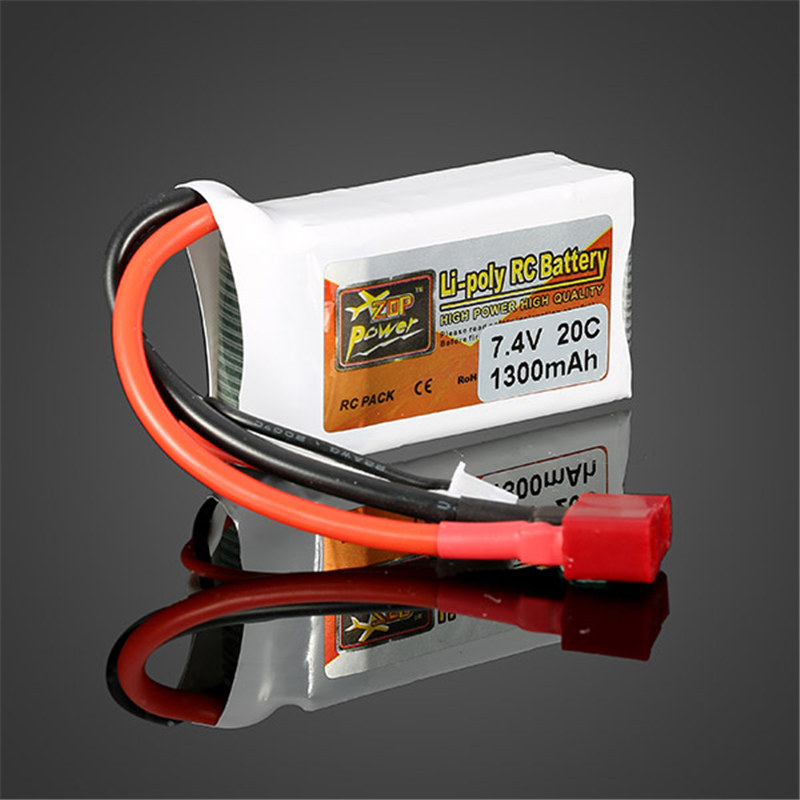 High Quality ZOP Power 7.4V 1300mah 20C Lipo Battery T Plug high quality zop power 11 1v 1500mah 25c lipo battery t plug