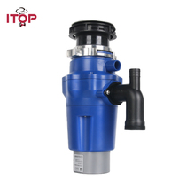 ITOP Household food waste processor kitchen garbage disposal crusher stainless steel grinder food slag crushing machine