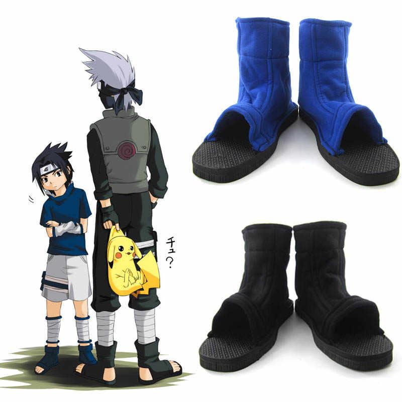 Naruto Kostüm Cosplay Schuhe Anime Uzumaki Uchiha Sasuke Hatake Kakashi Akatsuki Nanja Hidan Itachi Madara Ninja Halloween Stiefel
