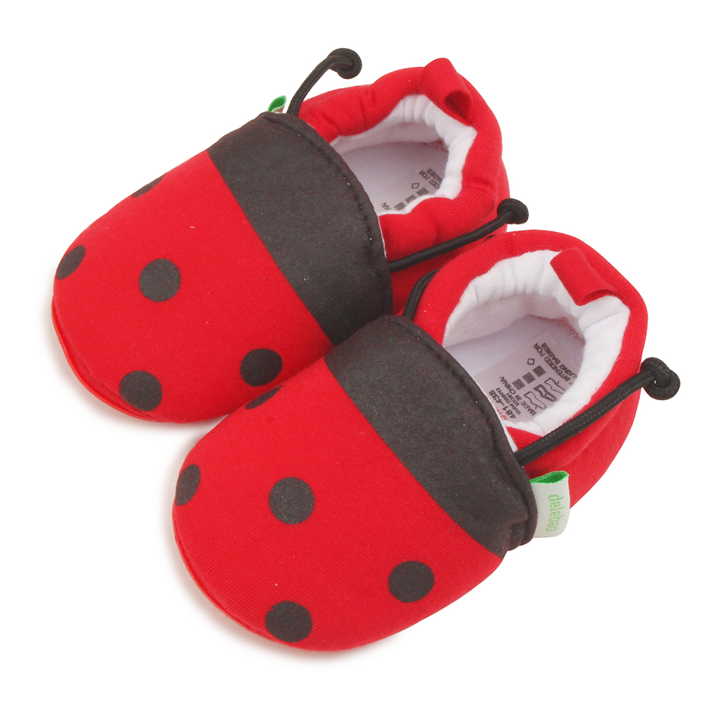 Delebao The Beetle Is Elastic With Style Baby Shoes Red Dot Soft Sole Cotton Infant Shoes First Walkers Wholesale in First Walkers from Mother Kids