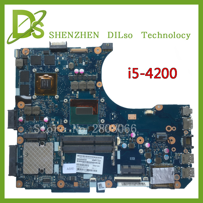 SHUOHU N551JM For ASUS G551JM Motherboard N551JM REV2.0 processor I5-4200U HM86 DDR3 VRAM 100% fully Tested wavelets processor