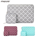 Mosiso 11.6 13.3 15.6 polegada saco luva do portátil para macbook 12 air pro 11 13 15 quatrefoil notebook caso bolsa
