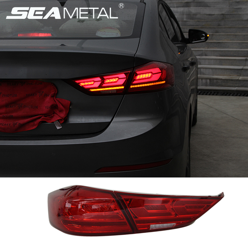 Car Tail Lights >> Us 348 74 32 Off Car Tail Lights For Hyundai Elantra 2018 2017 2019 6 Ad Taillights Rear Lamp Brake Reversing Turning Signal Elantra 2019 Light In