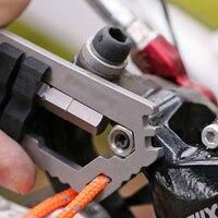 Super Outdoor Travel Kits 9in1 Multi Function EDC Tool Mako Ti Bike Tool W Bit Driver