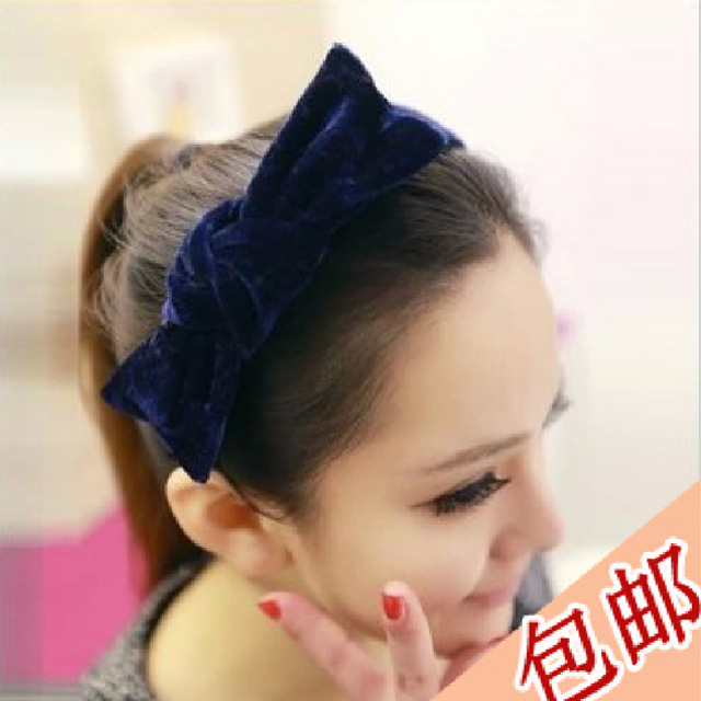 South Korean hair jewelry rabbit ears Korean gold velvet bow hair bands hair band, free home delivery
