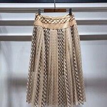 Ziwwshaoyu элегантная драпировка юбки падение точка большой маятник юбка весна и лето новая женская