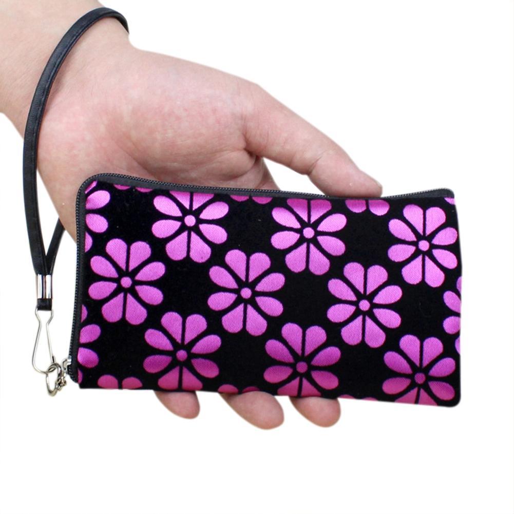 PinShang Women Floral Printing Wallet Fyra Leaf Clover Mynt Purse - Plånböcker - Foto 2