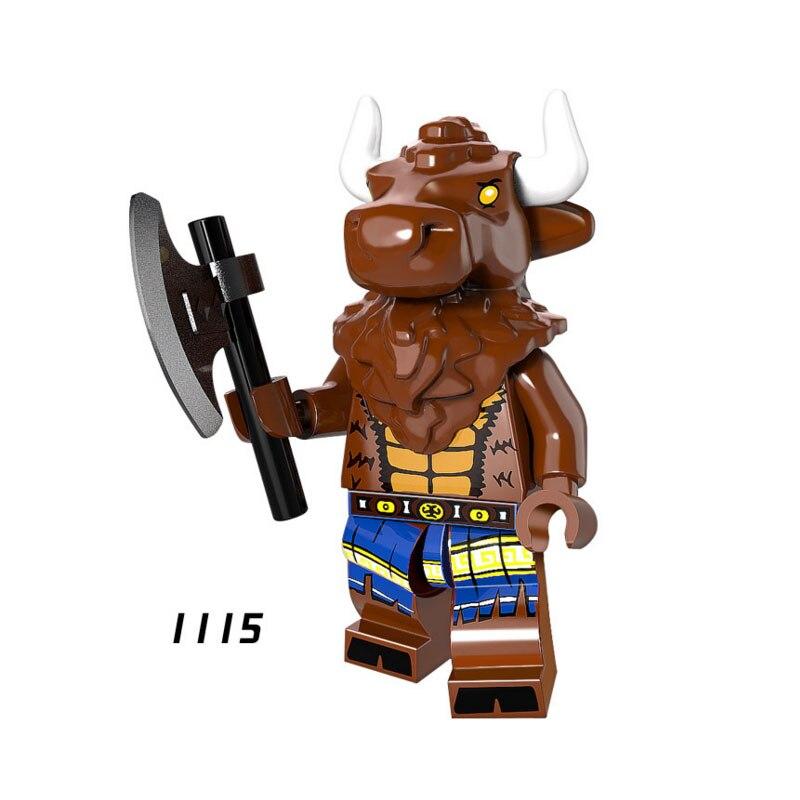 Single Sale Super Heroes Star Wars 1115 Tauren Minotaur Building Blocks Figure Bricks Toys Kids Gifts Compatible Legoed Ninjaed