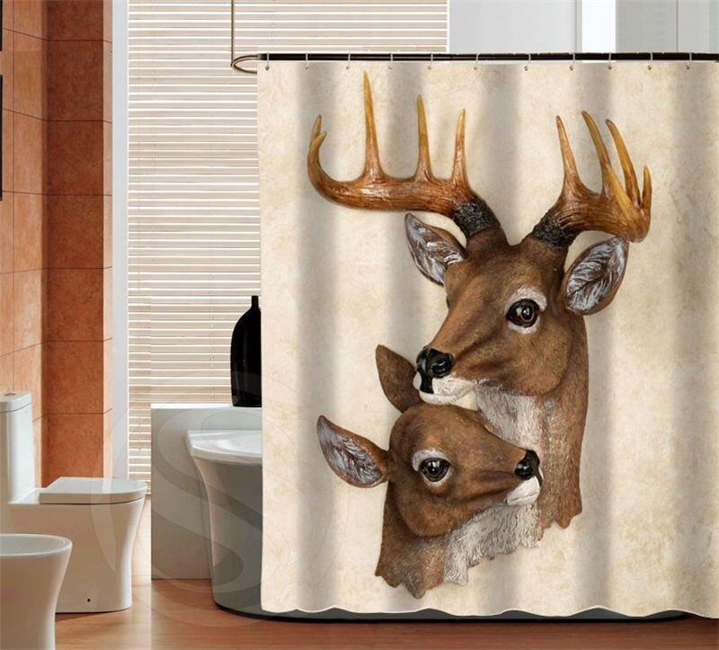 WARM TOUR Deer Custom Shower Curtain Bath Bathroom Curtains Best  Decorwaterproof Various Sizes Free Shipping180X180CM(