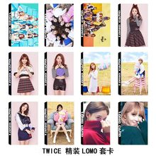KPOP TWICE Album Self Made Paper Lomo Card Photo Card Poster HD Photocard Fans Gift Collection k-pop k pop TT Cards MOMO lomo(China)