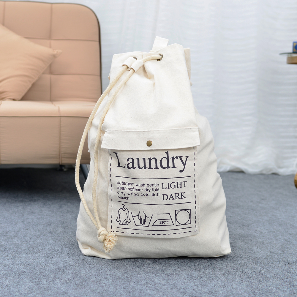 Cotton Canvas Laundry Bag Dirty Clothes