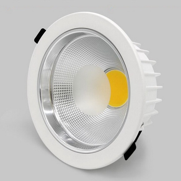 Free Shipping Super Bright COB Led Downlights 20W 25W Led Down Lights Recessed Lamp Warm Natrual Cold White AC85 265V in Downlights from Lights Lighting