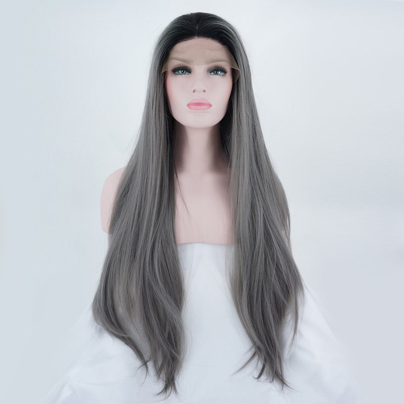 "22"" daily black & gray lady hair"