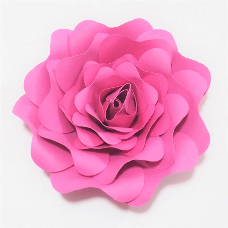 2018 DIY Half Made Raksasa Bunga Kertas Rose Pernikahan & Acara - Hari libur dan pesta
