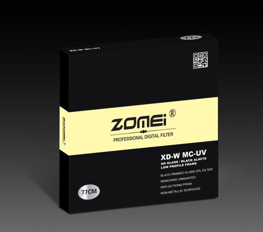 Zomei 49/52/55/58/62/67/72/77/82 Pro HD 슬림 MC UV 필터 Canon Nikon Sony Leica 시그마 렌즈 용 멀티 코팅 MCUV 필터