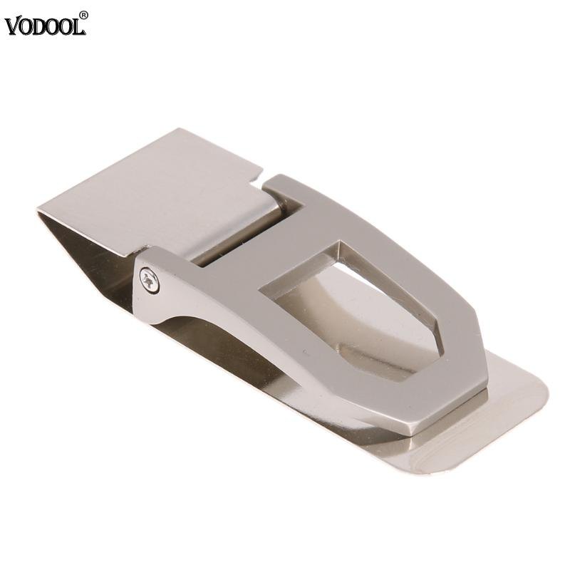 Portable Stainless Steel Money Paper Clip Business Card Credit Wallet Card Cash Clip Clamp Holder School Office Supplies Gifts