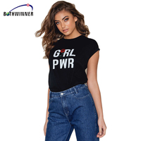 Bothwinner Letter Print Rose Harajuku T Shirt Women 2017 Summer Casual Short Sleeve TShirt Female Plus