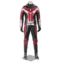 Ant Man Scott Lang Costume Captain America Civil War Cosplay Outfit Halloween Superhero Men Coat Suit Party Custom Made Adult