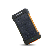 X-DRAGON Solar Charger 10000mAh Portable Solar Mobile Charger for iPhone iPad Air mini iPod Samsung s8 s8+ 5V USB devices ect.