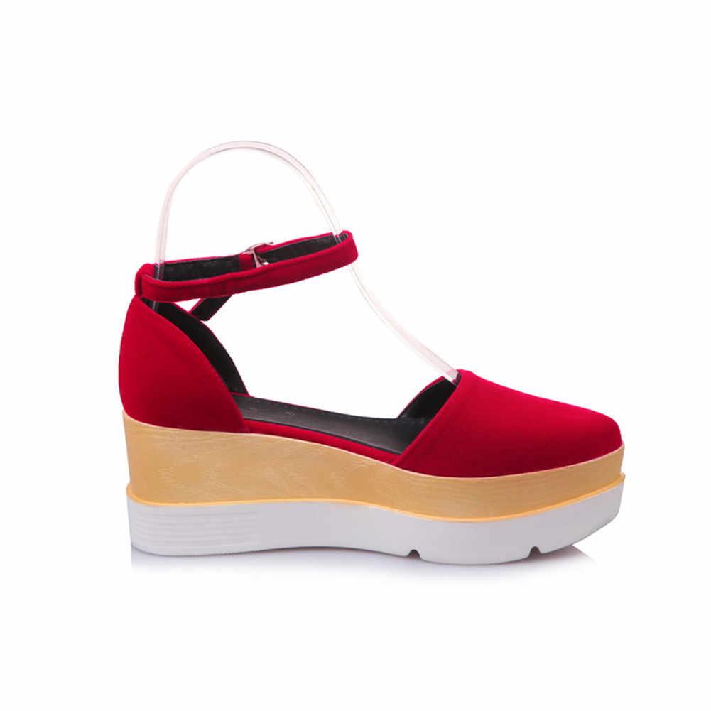 DORATASIA การออกแบบบิ๊กขนาด 32-43 แบนสายรัดข้อเท้ารองเท้ารองเท้าผู้หญิง Retro รองเท้าแตะฤดูร้อนสีดำสีแดง
