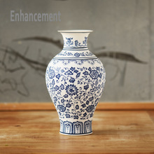 Blue and White Porcelain Vases Interlocking Lotus Design Flower Ceramic Vase Handmade Home Decoration Jingdezhen Flower Vases