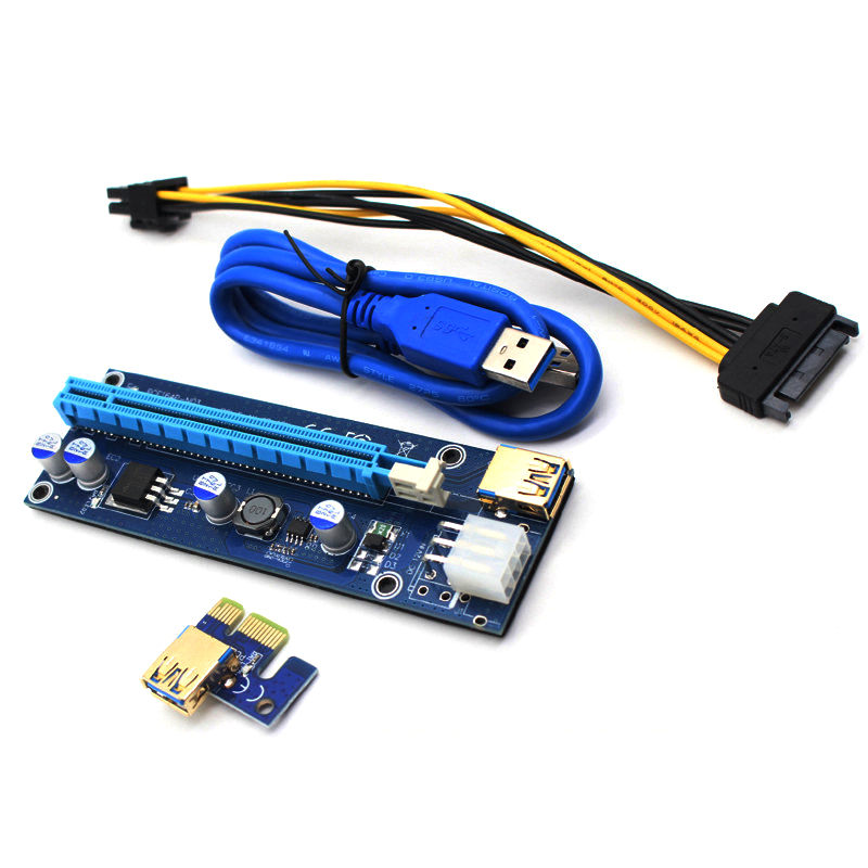 1pcs Ver009s Led Pci-e Riser 1xto16x Usb3.0 Images Mining Extension Cable Computer Cables & Connectors