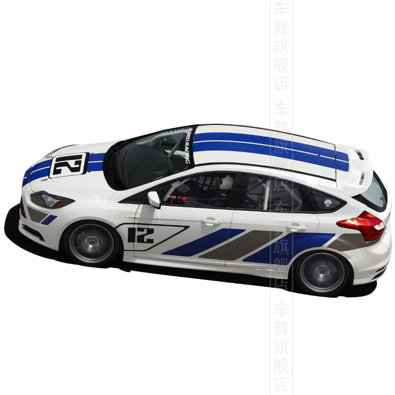 Car styling Ford Focus ST racing style personalized modification sticker reflective car whole body  -  Pro Auto Beauty store