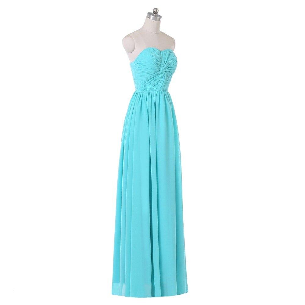 Brautjungfer Kleider Chiffon Long Evening Dress With Upper Part