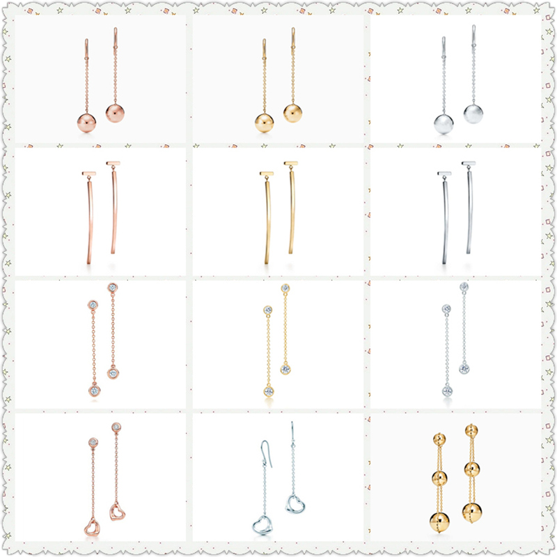 SHINETUNG TIFF Original 100% S925 Sterling Silver Rounded T Font OpenHeart Trendy Earrings Women Logo Fine High-End Jewelry