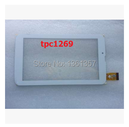New 7 inch tablet capacitive touch screen TPC1269 VER 5.0/4.0/3.0 white free shipping