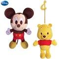 Disney Genuíno 14 cm/5.5 ''Mickey Mouse Pato Donald Minnie Chip e Dale Ponto Winnie The Pooh Saco De Brinquedos de Pelúcia Keychain para meninas