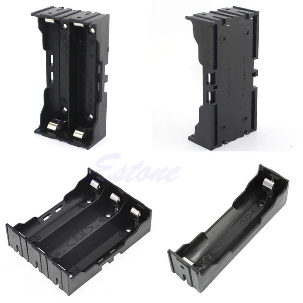 Plastic Battery Case Holder Storage Box For 18650 Rechargeable Battery 3.7V DIY