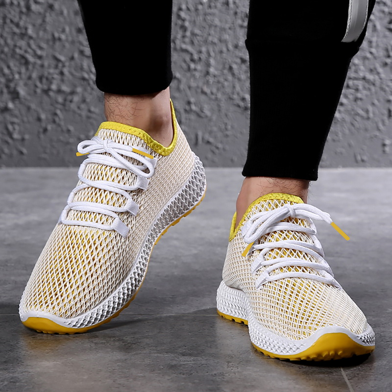 MoneRffi Male Flats Shoes Men Mesh Loafers Breathable Casual Sneakers Men Shoes 2019 in Men 39 s Vulcanize Shoes from Shoes