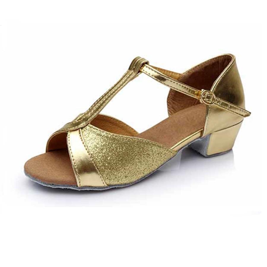 Professional Hot Sale Golden Latin Dance Shoes Girls Woman Shoes Salsa Ballroom Dancing Shoes Zapatos De Baile Latino Mujer